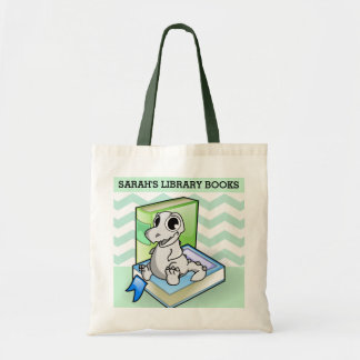 Baby Cera Library Books Budge Tote Bag