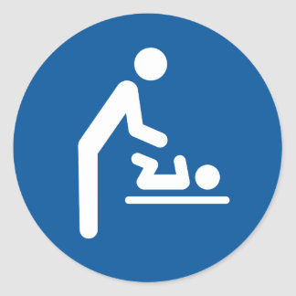 Baby changing station symbol stickers