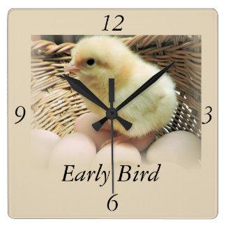 "Baby Chick, ""Early Bird"" Wall Clocks"