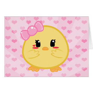 Baby Chick - Girl Card