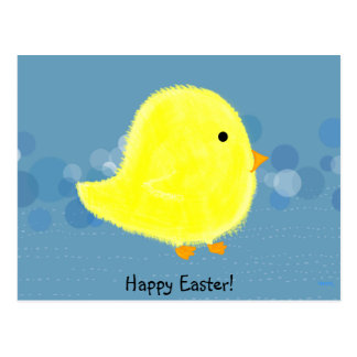Baby Chick Happy Easter Postcard / Post Card