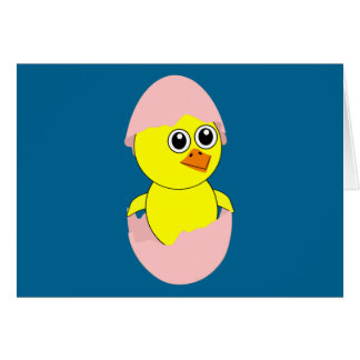 Baby Chick Maternity Girl Pink Card