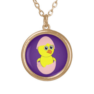 Baby Chick Maternity Pink For Girls Gold Plated Necklace