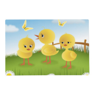 Baby Chickens Laminated Place Mat