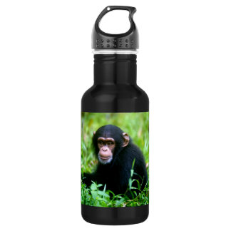 Baby Chimp in Grass 532 Ml Water Bottle