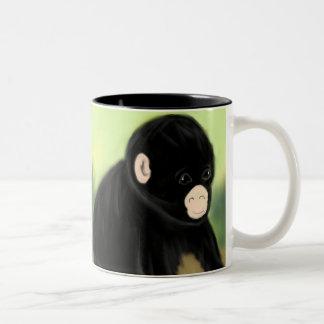 Baby Chimp Two-Tone Coffee Mug