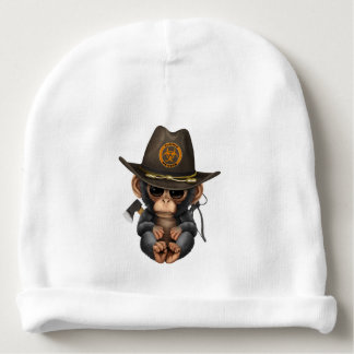 Baby Chimp Zombie Hunter Baby Beanie