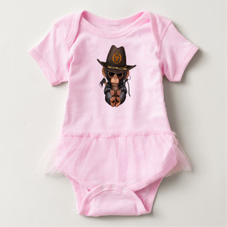 Baby Chimp Zombie Hunter Baby Bodysuit