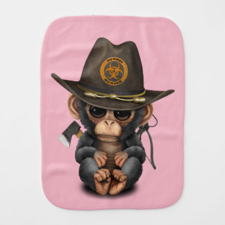 Baby Chimp Zombie Hunter Burp Cloth