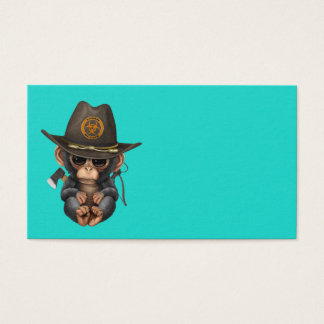 Baby Chimp Zombie Hunter Business Card