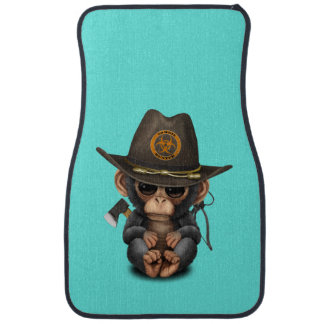Baby Chimp Zombie Hunter Car Mat