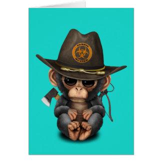 Baby Chimp Zombie Hunter Card