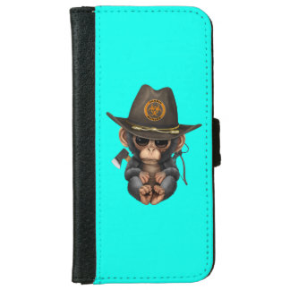 Baby Chimp Zombie Hunter iPhone 6 Wallet Case
