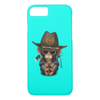 Baby Chimp Zombie Hunter iPhone 8/7 Case