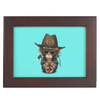 Baby Chimp Zombie Hunter Keepsake Box