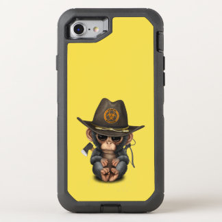 Baby Chimp Zombie Hunter OtterBox Defender iPhone 8/7 Case