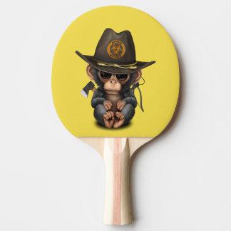 Baby Chimp Zombie Hunter Ping Pong Paddle