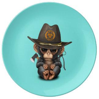 Baby Chimp Zombie Hunter Plate