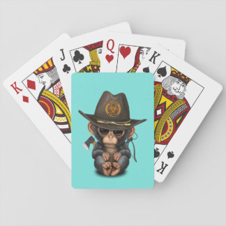 Baby Chimp Zombie Hunter Playing Cards