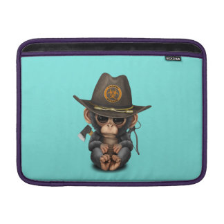 Baby Chimp Zombie Hunter Sleeve For MacBook Air