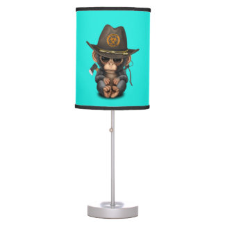 Baby Chimp Zombie Hunter Table Lamp