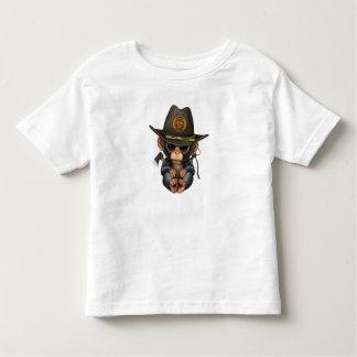 Baby Chimp Zombie Hunter Toddler T-shirt