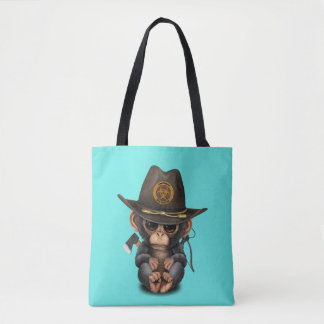 Baby Chimp Zombie Hunter Tote Bag