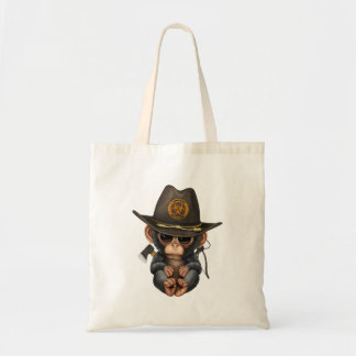 Baby Chimp Zombie Hunter Tote Bag