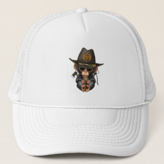 Baby Chimp Zombie Hunter Trucker Hat