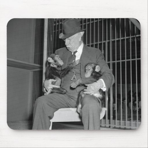 Baby Chimpanzees, 1938 Mousepads