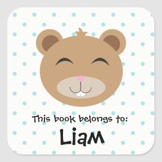 Baby Chipmunk Animal Woodland Face Book Sticker