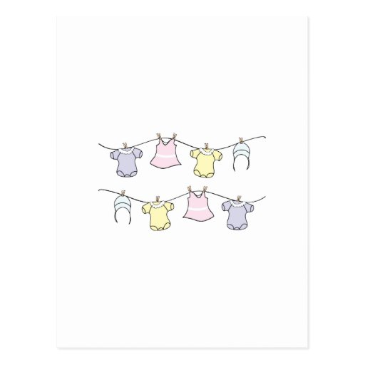 Baby Clothes Line Postcard