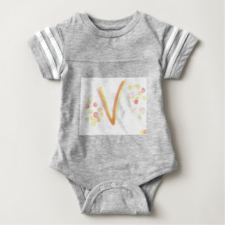 Baby clothes with Letter V Baby Bodysuit