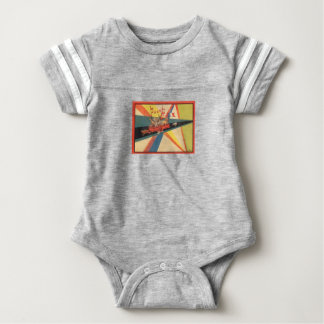 BABY CLOTHES:WITH VINTAGE FRENCH ILLUSTRATIONS. BABY BODYSUIT
