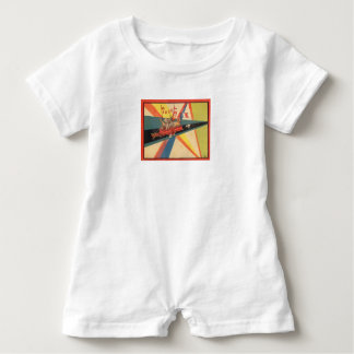 BABY CLOTHES:WITH VINTAGE FRENCH ILLUSTRATIONS. BABY ROMPER