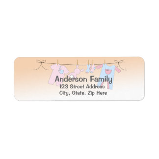 Baby Clothesline Address Label
