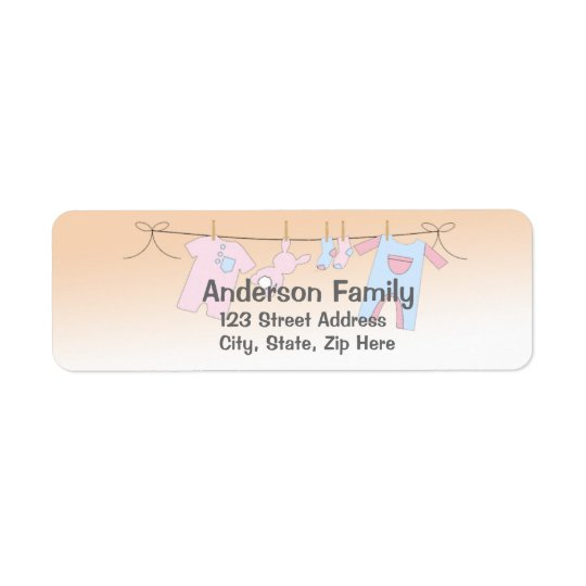 Baby Clothesline Address Label