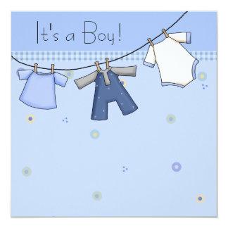 Baby Clothesline Baby Boy Clothesline Baby Shower Card