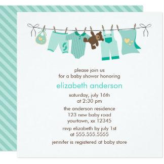Baby Clothesline Gender Neutral Baby Shower Card