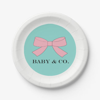 BABY & CO Baby Reveal Celebration Party Plates