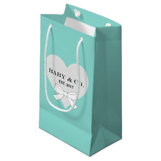BABY & CO Baby Shower Heart Party Gift Bag