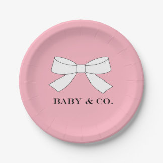 BABY & CO. Baby Tiffany Girl Luncheon Party Plates