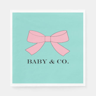 BABY & CO Blue And Pink Baby Reveal Party Napkins