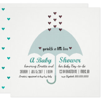BABY & CO Blue And Pink Baby Shower Invitation