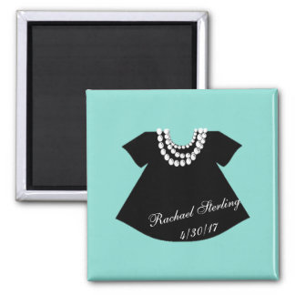 BABY & CO Little Black Dress Baby Shower Magnet