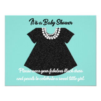 BABY & CO Little Black Dress Shower Invitation