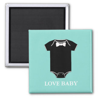 BABY & CO Little Man Baby Shower Party Magnet