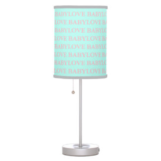 BABY & CO Love Pink and Mint Nursery Baby Lamp