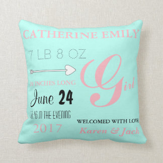 BABY & CO Personalize Baby Love Pink & Mint Pillow