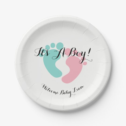 BABY & CO Pink And Blue Baby Reveal Party Plates